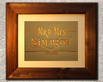 MR and MRS WEDDING Gift, Family Name Sign, Wedding Gift, Wedding Gift Ideas, Wedding Gifts for Couple, Gift for Couple, Gift for Family