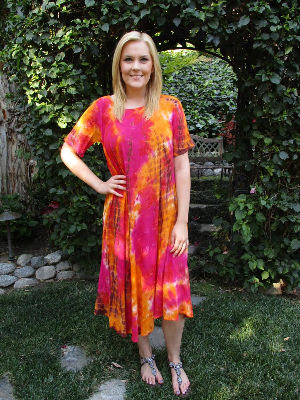Cotton Hippie Dress Tie Dye Dress Summer Dress Dresses