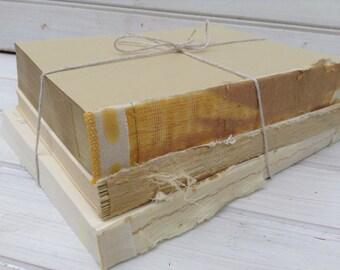 Bare Book Bundle, Vintage Upcycled Home Decor, Shabby Chic, Wedding Decor, Photo Prop (045)