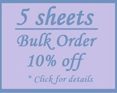 Bulk Order 5 Sheet Discount - Cotton Custom Printed Labels / Sew in Clothing labels / Personalized Fabric Labels - For Crochet, Knit, Sewing