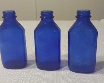 Cobalt Blue Phillips Bottles