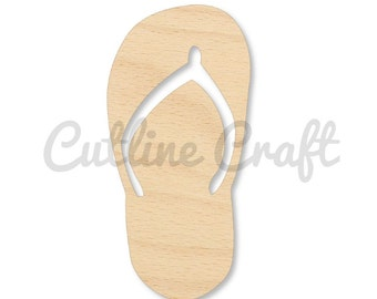 Sandal Flip Flop Left Style 4020, Wooden Cutouts, Crafts Embellishment, Gift Tag or Wood Ornament