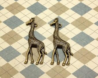 20Pcs Antique Bronze giraffe Charm giraffe Pendant 25mmx52mm