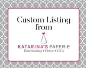 Custom Listing for Bianca