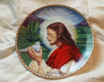 On Sale Prince of Peace 8 inch Knowles Decorative Plate with Jesus Christ by Jennifer Welty Limited Edition Numbered Wall Decor