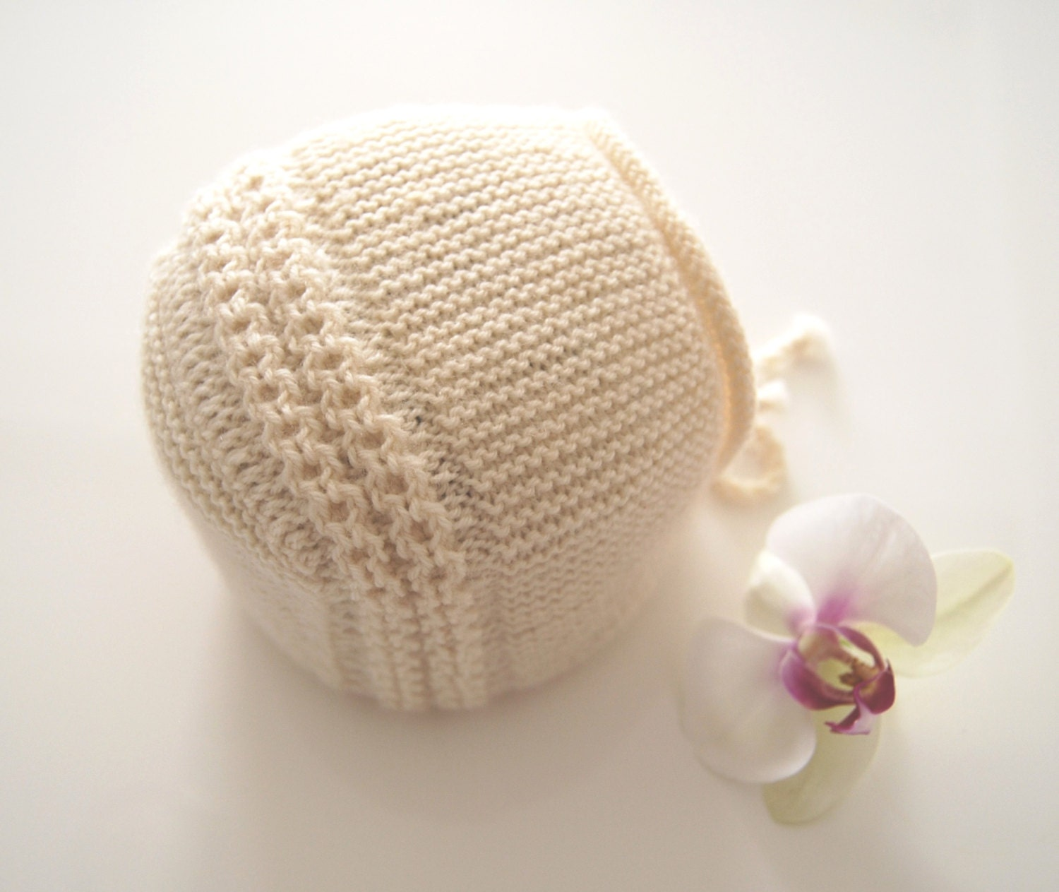 Baby Princess Charlotte Hat/ Bonnet Knitting Instructions
