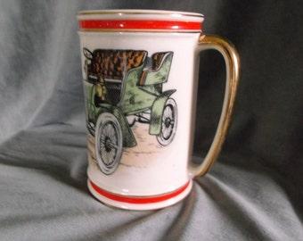 """Vintage Hyalyn 620 """"Cadillac 1904"""" Ceramic Stein  / Mug"""