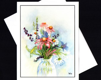 Wild Flowers- 4 pack Blank Note Cards
