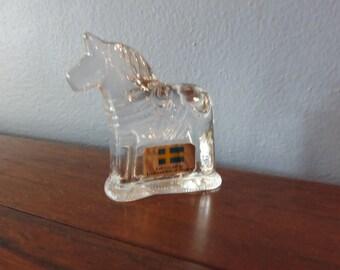 Vintage Miniature Full Crystal Dala Horse Lindshammer of Sweden