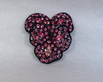 Pink and Rose Colored Brooch