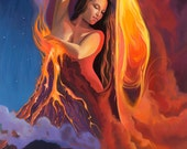 "Fire Dance - Matted Paper Print - 11"" x 14"""