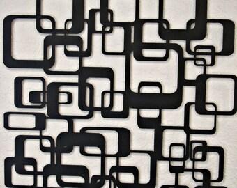 Retro Abstract Metal Wall Art
