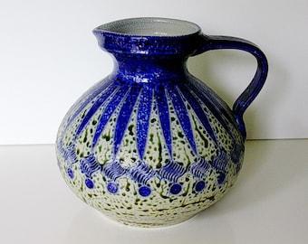 Mid Century Westerwald Stoneware studio jug / vase salt glaze Germany WGP