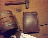 "Horween English Tan Bi-fold Wallet.  Brown Stitching.  The ""Chunky Charlie"" (Dickens).  (FREE SHIPPING)"
