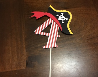Pirate Cake Topper, Pirate Birthday Party, Pirate Party Decorations