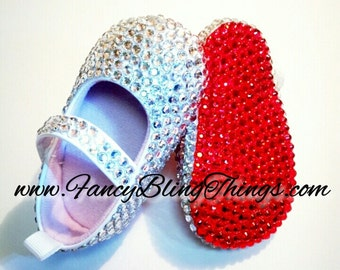 Diamond Cinderella Bling Baby Shoes by FancyBlingThings on Etsy