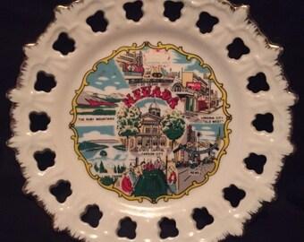 Nevada vintage souvenir plate