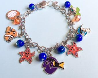 Finding Nemo Inspired, Finding Dory, Nemo inspired, Disney Inspired, Disney jewelry, Disney, Nemo, Dory, Fish bracelet, Fish jewelry