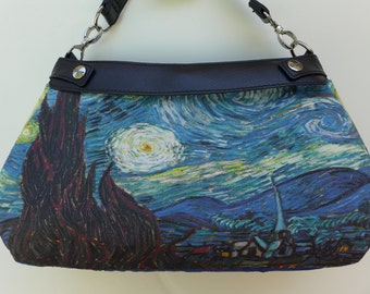 Van Gogh - Starry Night- Purse Skirt ONLY for Thirty-One Skirt Purse