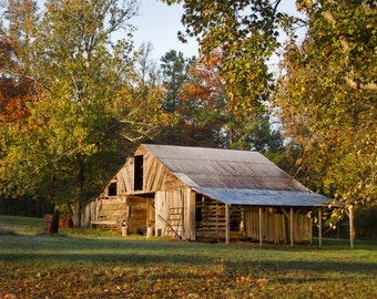 Autumn Barn Photograph, Autumn Landscape Fine Art Photography, Autumn Barn Fine Art Print, Rustic Fine Art Decor