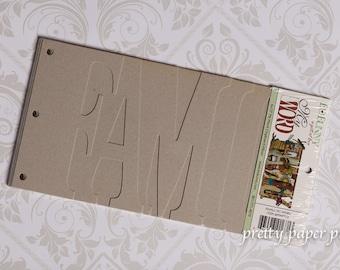 My Word Chipboard Album