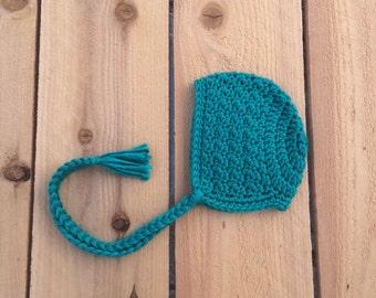 newborn bonnet, crochet bonnet, baby bonnet