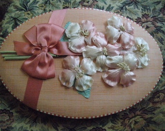 Vintage Candy Box Silk Flowers