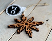 Snowflake Rustic Modern Christmas Ornament