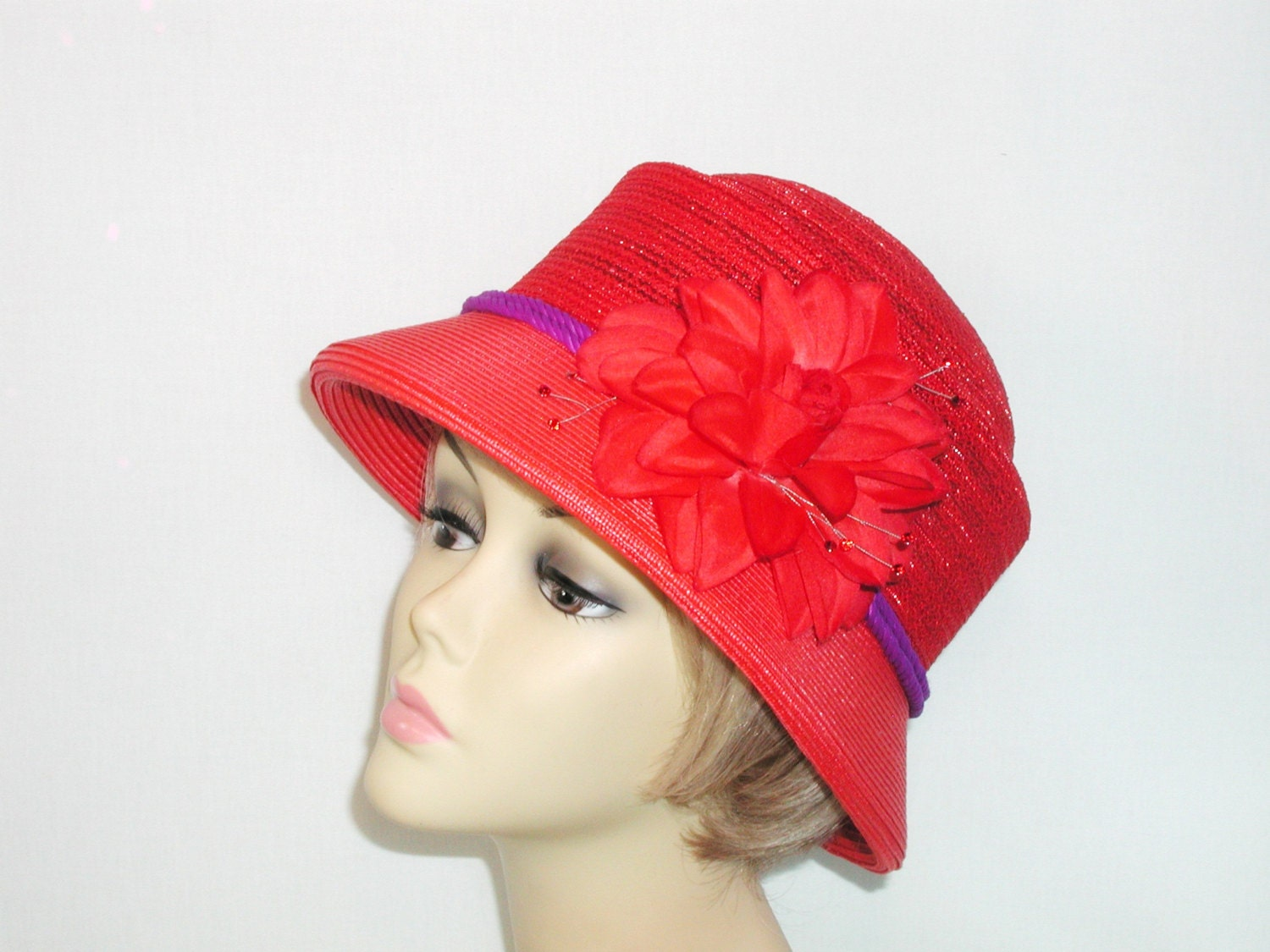 Product Features brim,adjustable belt inside the hat, you can adjust size according to.