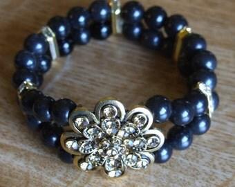 Black and gold bracelet 0087sb