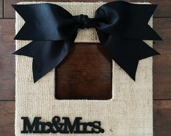 Burlap Mr. & Mrs. Frame