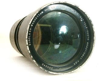 Vintage Brass Lens Gundlach-Manhattan 465mm F5.6 Lens for Large Format Camera 4x5 or 5x7