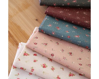 laminated cotton Fabrics waterproof fabric by the yard oilcloth shabby rose