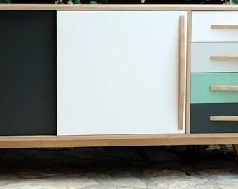 enfilade sideboard style Scandinavian 2 sliding doors 4 drawers