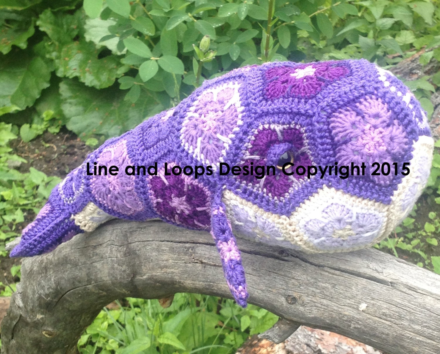 African Flower Crochet Dragon Pattern : Line and Loops Purdy the African Flower Crochet Whale