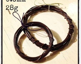 0.3mm (28g) hand-antiqued copper wire, 3m/10ft, antique copper wire, oxidized copper wire, sealed wire, 3 metres