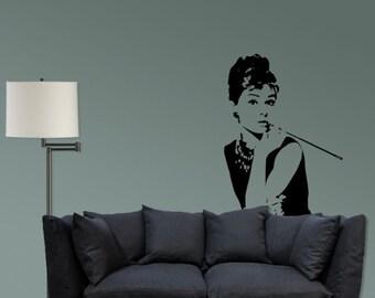 Breakfast at Tiffany's Audrey Hepburn vinyl decal