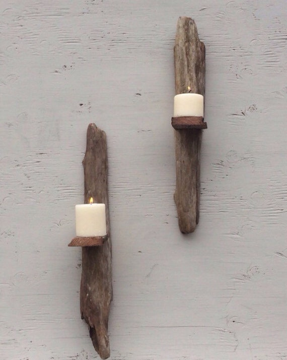 Driftwood wall sconces set of 6. Driftwood by ShopSweetlySalvaged