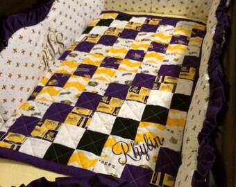 lsu baby bedding | etsy