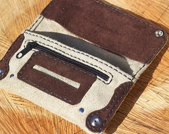 Tobacco Pouch brown suede pouch