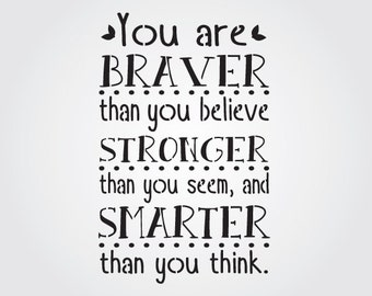 Braver, Stronger, Smarter Craft Stencil
