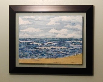 Hand Painted Oceanscape on Glass
