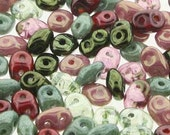 Antique Roses Mix SuperDuo 2 Hole Seed Beads, 10 grams - Item 3138