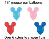 Mouse Ear Balloons birthday party supply Bag of SIX