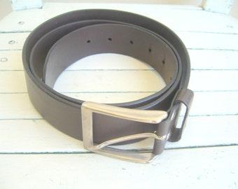 Men's brown belt/faux leather belt for men/vintage men's belt brown