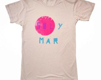 SOL Y MAR hand screen printed t-shirt