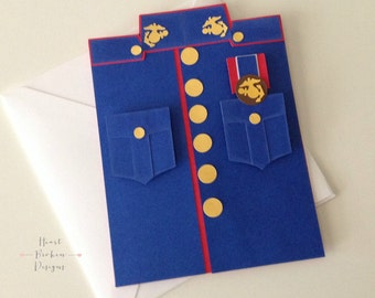 Marine Card/ Marine Inspired Card/Greeting Cards/ Father's Day Card/ Happy Birthday Marine