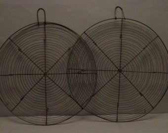 two antique French cooling racks for cakes and pastry very decorative