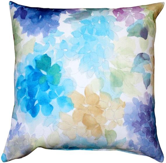 May Flower Blue Throw Pillow 20X20
