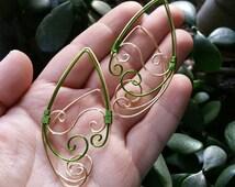 Elf Ear Cuff, Elf Earrings, Elf Ear Earrings, Elf ear Cosplay, Elf Ear Jewelry, Fairy Ears, Wood Elf